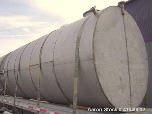 """Used- Tank, 6,000 Gallon, 304 Stainless Steel, Vertical.  Approximate 96"""" diameter x 192"""" straight side. Dish top, flat bott..."""