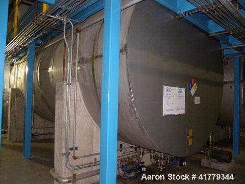 "Used- Grunau Metals (2) Compartment Storage Tank, 15,000 Total Gallons, 304 Stainless Steel, Horizontal. 126"" diameter x 280..."