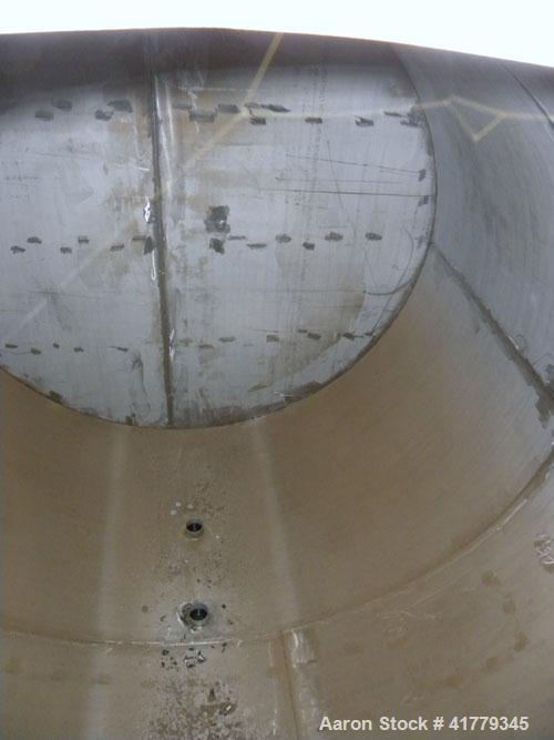"Used- Grunau Metals (5) Compartment Storage Tank, 15,000 total gallons, 304 Stainless Steel, Horizontal. 126"" diameter x 280..."