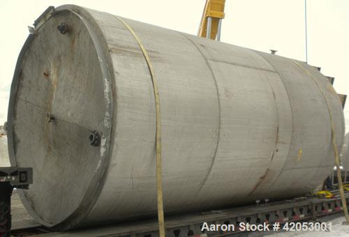 """Used- Tank, Approximate 17,000 Gallon, 316 Stainless Steel, Vertical. Approximate 144"""" diameter x 242"""" straight side, coned ..."""