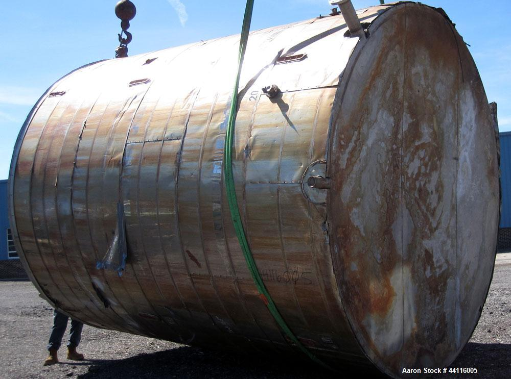 Used- 12,600 Gallon Stainless Steel Tank
