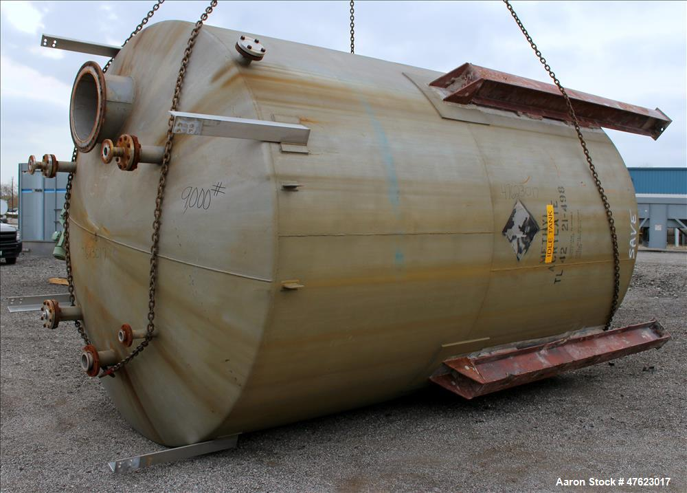Used- Tank, 10,000 Gallon, 304 Stainless Steel, Vertical.