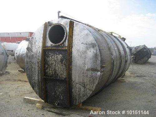 "Used-Omni Fab Tank, 5,000 Gallons, Stainless Steel, Vertical. Approximately 84"" diameter x 204"" straight side, flat top and ..."