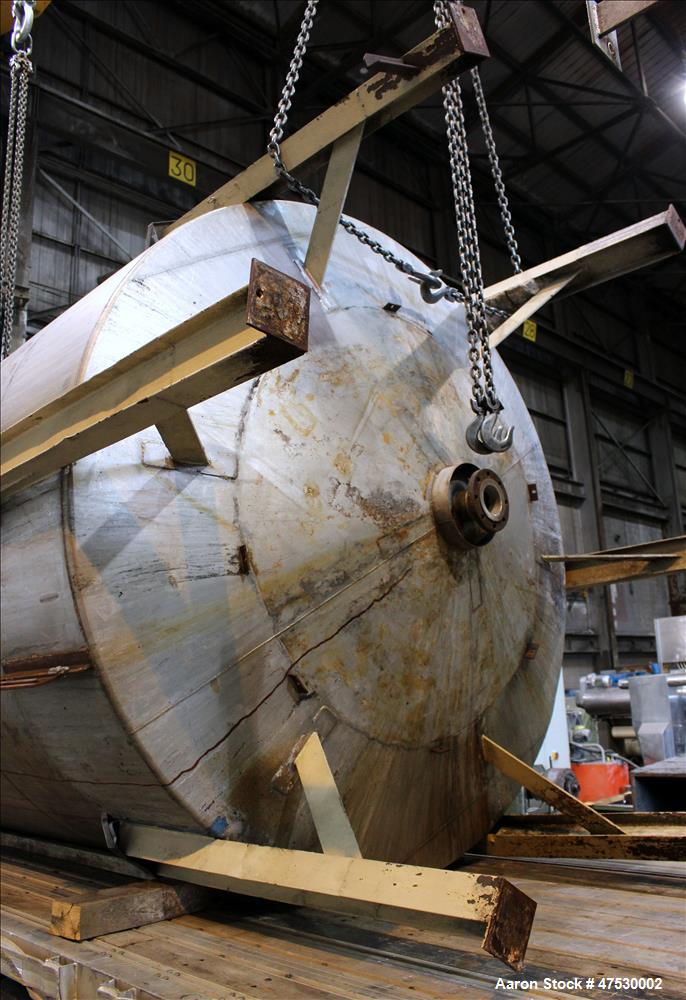 Used- Perry Products Tank, 5,600 Gallon, Model VCWX, 316 Stainless Steel, Vertic
