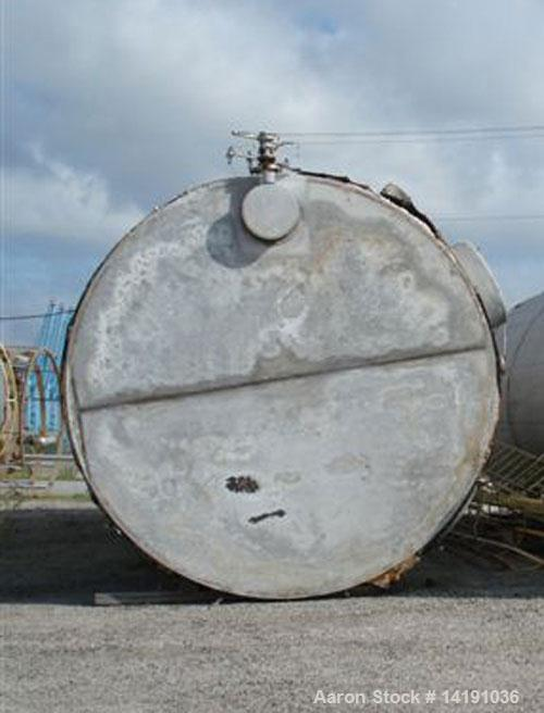Used Industrial Air Inc. Approx. 31,300 Gallon Vertical 304L Stainless Steel Storage Tank, built 1986. Slight cone top, flat...