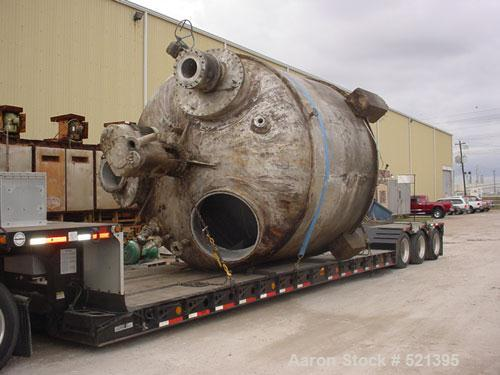 Used- Reco Pressure Tank, 11,000 Gallon, 316L Stainless Steel, Vertical. 144'' diameter x 108'' straight side, 2:1 elliptica...
