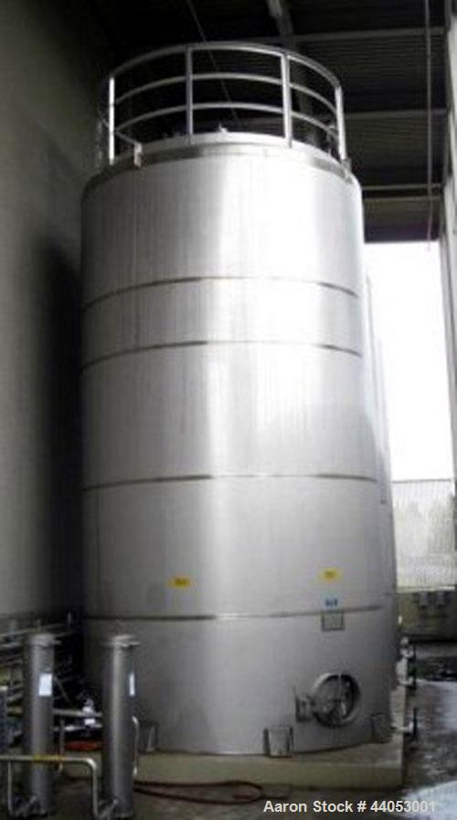 Used-Santa Rosa Stainless Steel Storage Tank. API Standard 650. 10,985 Gallon Capacity. Type 304SS Material Construction. Ve...