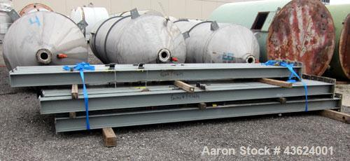 Used- Springs Fabrication Product Hopper/Silo, 739.44 cubic feet (5533 gallon), 304 stainless steel, vertical. Approximately...