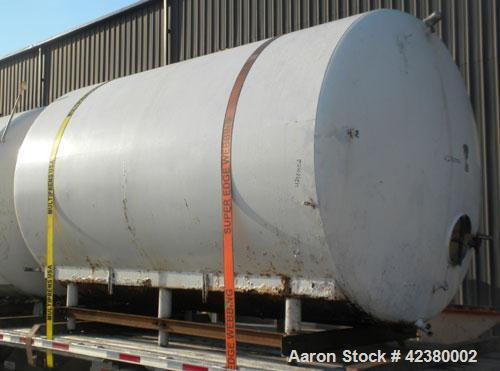 """Used- St. Regis Tank, Approximately 5000 Gallon, 304 stainless steel, horizontal. 96"""" Diameter x 150"""" straight side, dished ..."""