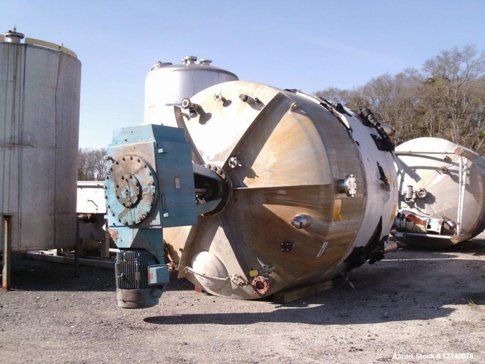 "Used- Stainless Fabrication Inc. Approximately 14,700 Gallon Stainless Steel Vertical Mix Tank. 144"" diameter x 209"" high st..."