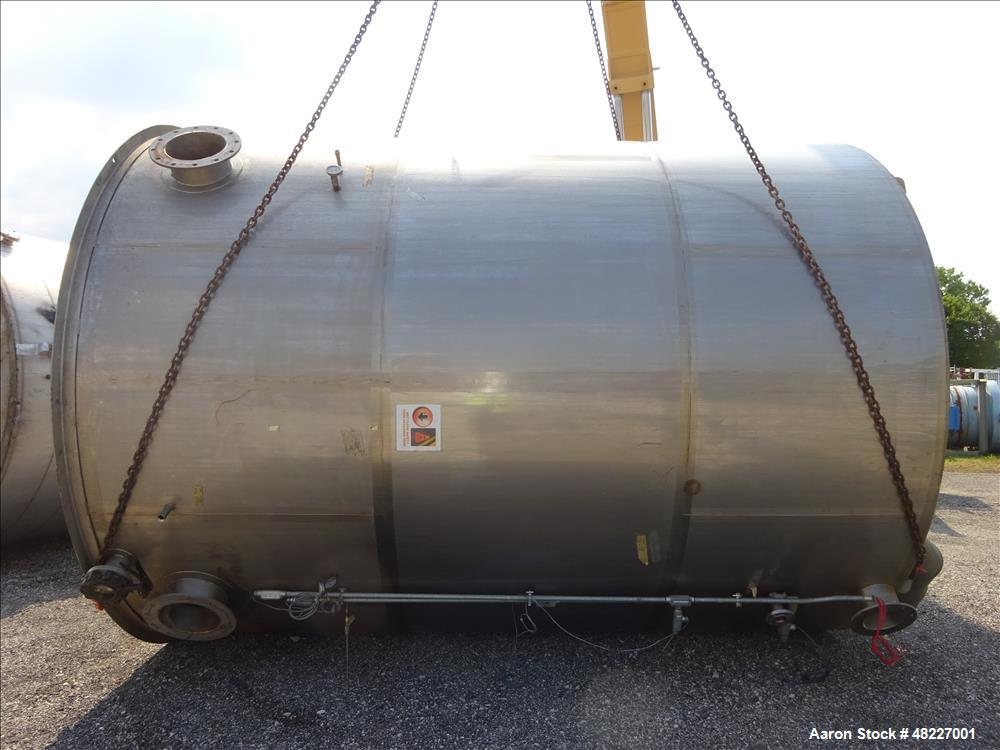 Used- Stainless Process Equipment Inc. 2-Compartment Tank, 10,750 Gallon, 304 St