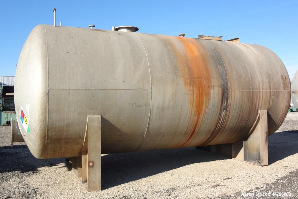 Used- 13,000 Gallon Stainless Steel Superior Welding Pressure Tank, Model 2 HTA-3