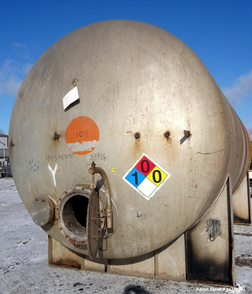 Used- 13,000 Gallon Stainless Steel Superior Welding Pressure Tank