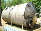 Used-15,000 Gallon Vertical 316 Stainless Steel Storage Tank. 136