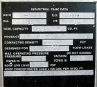 Used- Columbian TecTank, 30,800 Gallon / 41,165 Cubic Foot Capacity.