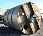 Used- Imperial Steel Tank, 10,300 Gallon, 304 Stainless Steel, Vertical. Approximate 126