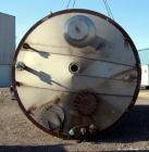 "Used- Tank, 17,700 Gallon, 316 Stainless Steel, Vertical. Approximate 126"" diameter x 328"" straight side, cone top, flat bot..."