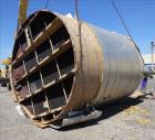 Used- Walker Stainless Equipment, 10,000 Gallon Vertical Tank.