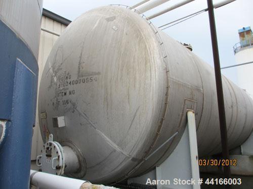 "Used- Trinity Industries Inc Pressure Tank, 25,000 Gallons, 304L Stainless Steel, Horizontal. 138"" Diameter x 360"" straight ..."