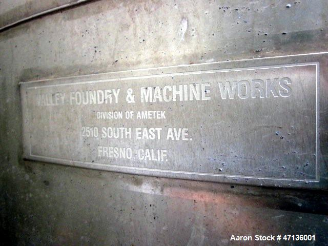 Used- Valley Foundry & Machine Works Tank