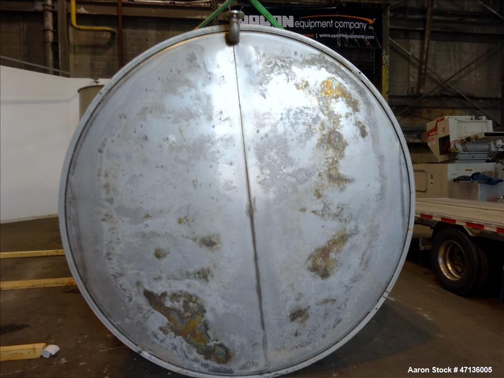 "Used- Valley Foundry & Machine Works Tank, Approximate 5,000 Gallon, 304 Stainless Steel, Vertical. Approximately 102"" diame..."