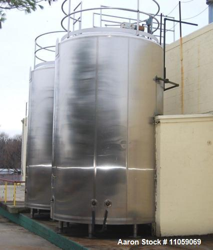 Used- Walker 6000 Gallon Jacketed Stainless Steel Mix Tank