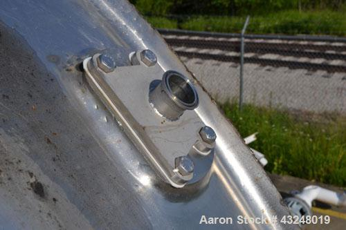 """Used- Walker Jacketed Tank, 10000 Gallon, Stainless Steel, Vertical. Approximate 120"""" diameter x 240"""" straight side, dished ..."""