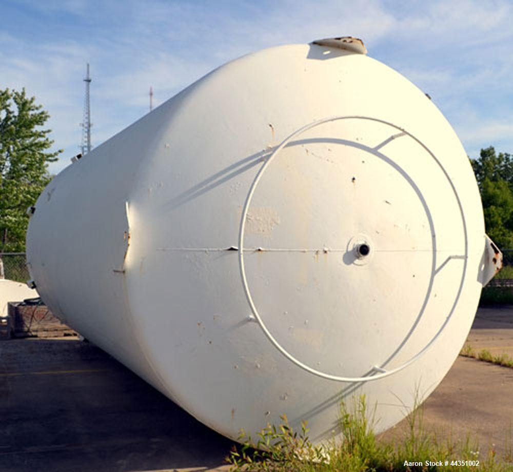 "Used- Walker Jacketed Tank, 10,000 Gallon, 304 Stainless Steel, Vertical. Approximately 120"" diameter x 240"" straight side, ..."