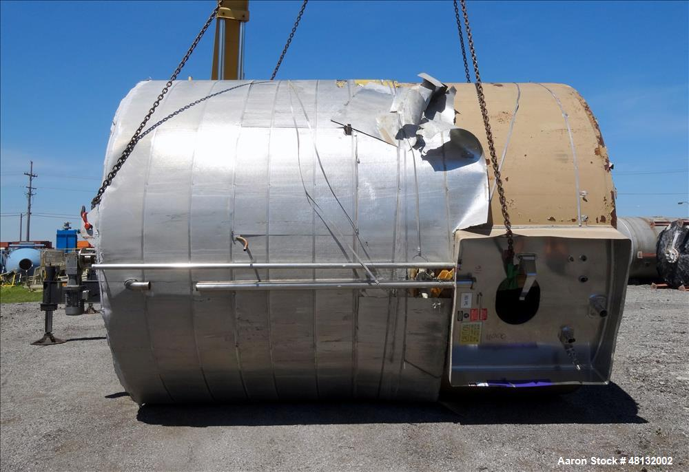 Used- Walker Stainless Equipment Jacketed Tank, 10,000 Gallon