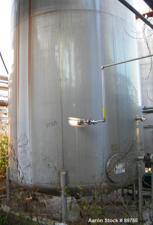 USED: Walker 16,000 gallon, type 316L stainless steel, storage tank. Vertical, dished heads. Approximate 12' diameter x 18' ...