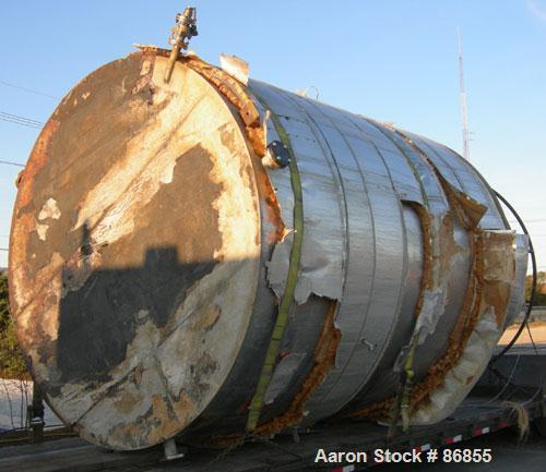 """Used- Wolfe Mechanical and Equipment Tank, 7,660 Gallon, 304L Stainless Steel, Vertical. Approximate 120"""" diameter x 156"""" st..."""