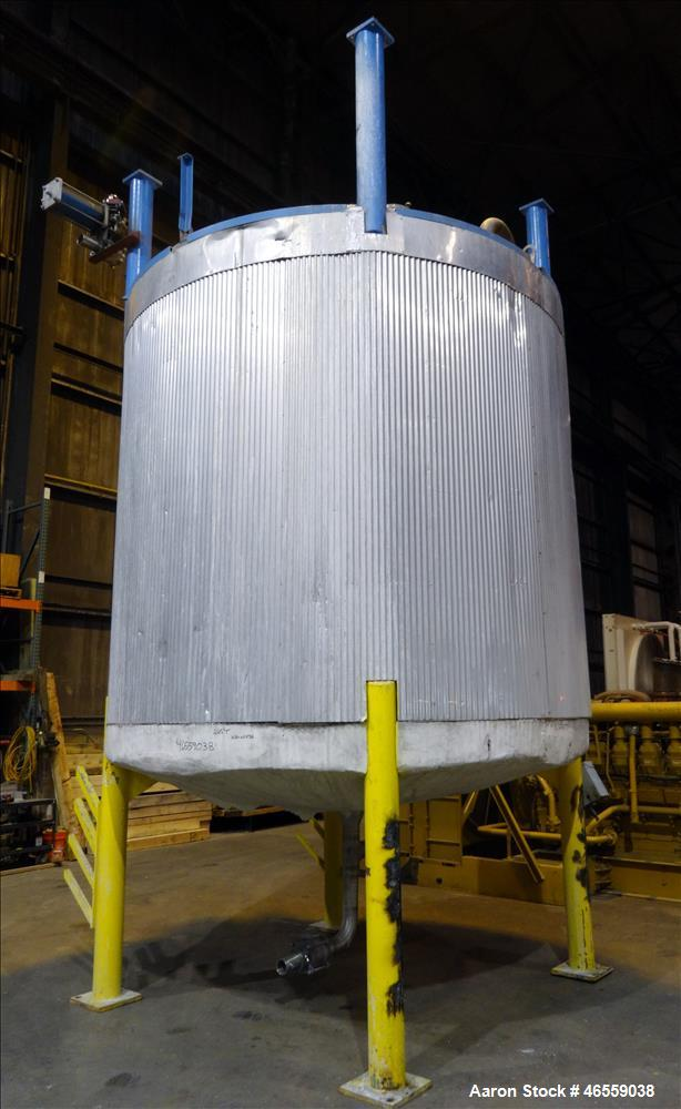 "Used- Zero Manufacturing Tank, Model ZS, 6,000 Gallon, 316 Stainless Steel, Vertical. Approximate 120"" diameter x 112"" strai..."