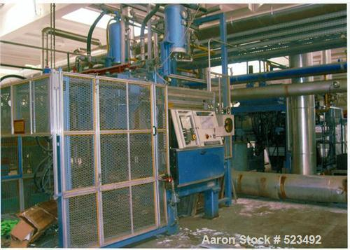"""USED: Erlenbach foaming machine, type EHV. Molding part size 42"""" x 34"""" x 7.9"""" (1070 x 870 x 200mm), for polystyrol (EPS) and..."""