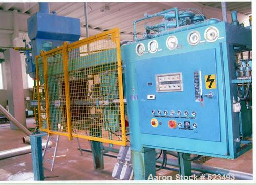 """USED: Heitz foaming machine, type HE640. Molding part size 23.6"""" x15.7"""" (600 x 400mm), for polystyrol (EPS)."""