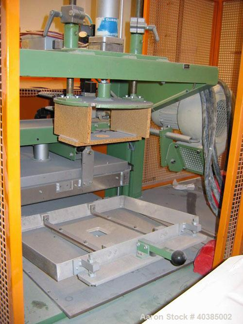 """Used-Keifel lab size thermoformer, type KD35-50. Material of construction is stainless steel on product contact parts. 19.6""""..."""