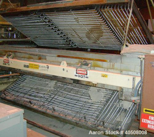 "Used- Irwin Research and Development Thermoformer, Model 50-40-10-S2D. Heat tunnel model HT-LH 50-160, approximately 51"" wid..."