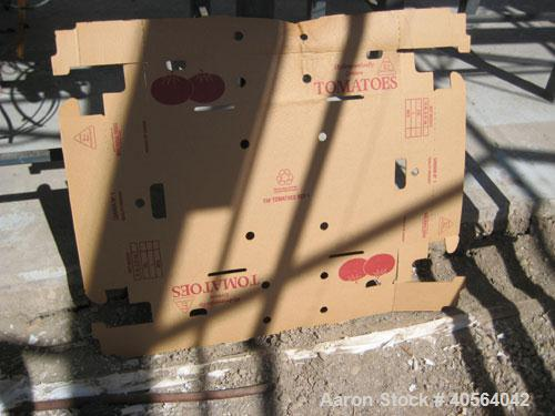 Used-Tray Former, tuck/tab design closure with single 16 in x 23 in forming die head. Includes 2 ft wide x 16 ft long rubber...