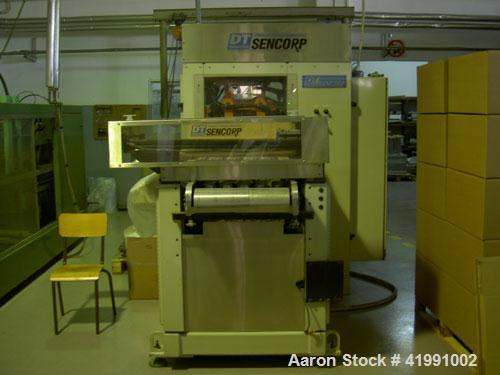 Used-Sencorp Series Thermoformer, type HP-1000 with stacking system, consisting of: (1) Continuous roll unwind for rolls of ...