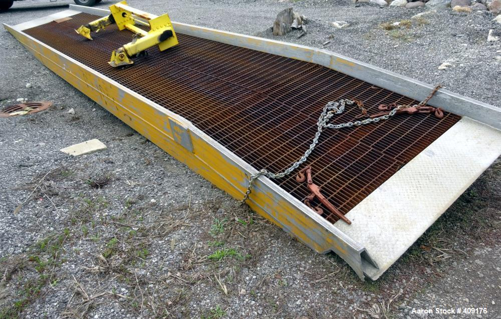 """Used- Trailer Loading Ramp, Carbon Steel. Overall size 432"""" long x 70"""" wide. Drive width 63""""."""