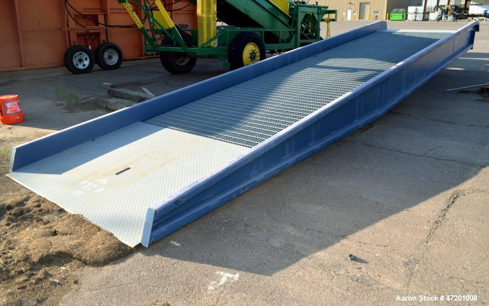 Used- Bluff Manufacturing Portable Steel Yard Ramp, Model 20SYS8430, Carbon Steel. 20,000 Pound capacity. Inner ramp width a...