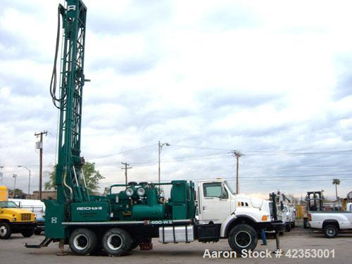 Used-Reich Drill Blasthole Drill Rig, 1998 low hour use water well, model T650 WII with only 9000 hours on this unit. It's m...