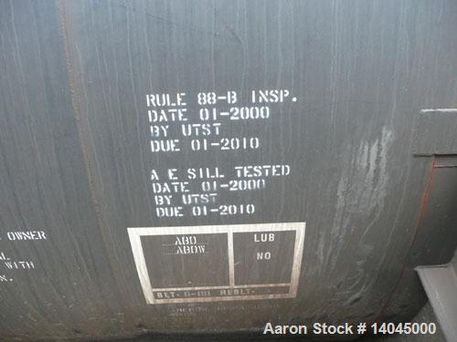 "Used-Trinity Tank Car, 17,574 Gallon Carbon Steel Lined Railcar. DOT Classification #111A100W3. Insulation is 4"" fiberglass...."