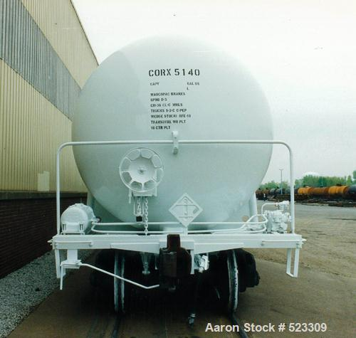 USED: Union tank car, 20,886 gallon, type 304L stainless steel railcar. Classification #115A60W6. Inner tank is type 304L st...
