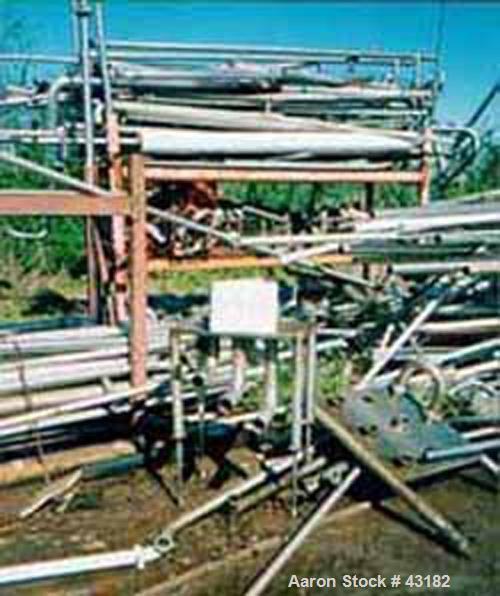 """Used- Flow Verter, 4 position. Stainless steel, vertical, free-standing position. 2-1/2"""" flat gasket connections."""