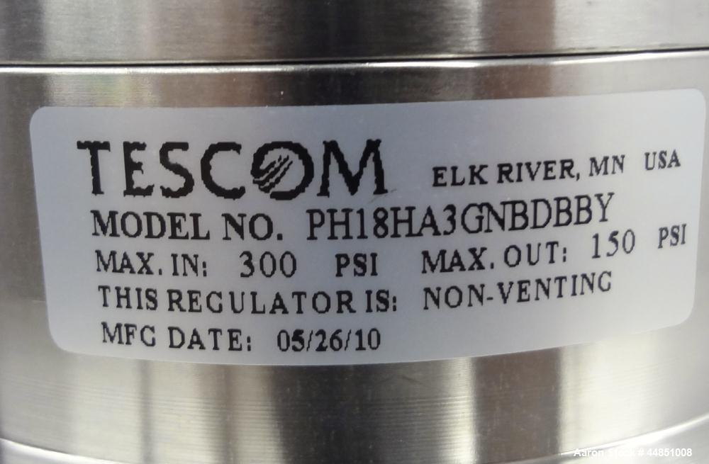 Unused- Stainless Steel Tescom PH-18 Non-Venting Diaphragm Sensed Pressure Reduc