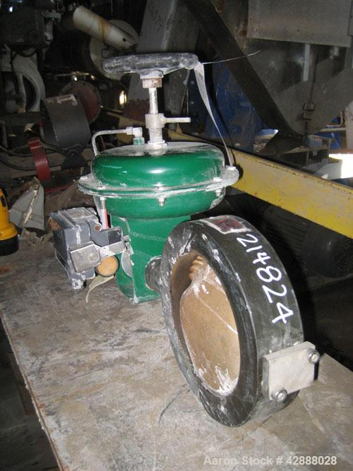 """Unused-Fisher 8"""" Diameter Butterfly Valve,Hastelloy Dvane material, carbon steel body. Pneumatic positioning. Serial # 12..."""