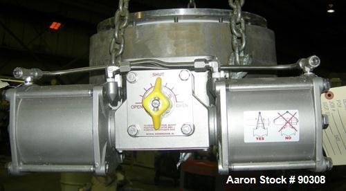 "USED- Gemco 12"" Cast GTV Spherical Valve, 316 stainless steel housing, Hastelloy B seat disc. 12"" discharge with 19"" OD moun..."