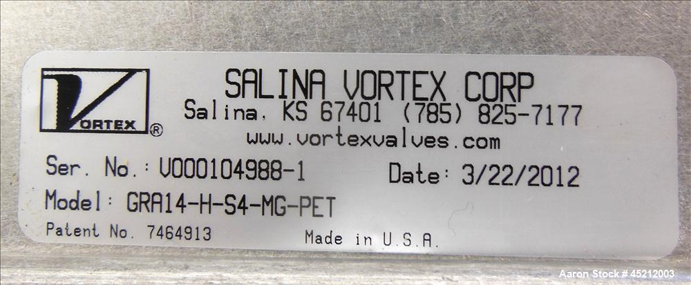 Unused- Salina Vortex Quantum Series Pneumatic Orifice Gate Valve, Model GRA14-H