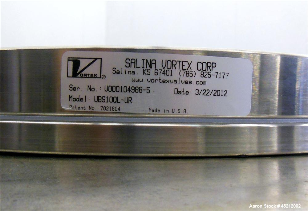 Unused- Salina Vortex Quick Lock Iris Valve, Model UBS10QL-UR
