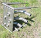 Used- Flow Verter, 4 position. Stainless steel, vertical, free-standing position. 2-1/2